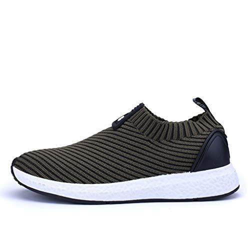 Dtuta Herren Laufschuhe Sneaker Straßenlaufschuhe Sportschuhe Turnschuhe Outdoor Leichtgewichts Freizeit Atmungsaktive Fitness Schuhe Slip On Loafer Casual Sneaker 39-44