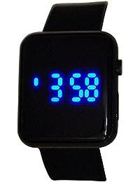 Montre Reflex Unisexe Digitale Multifonctions Bracelet en Caoutchouc Noir