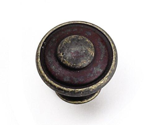 Laurey Cabinet Hardware Knauf mit Knopf oben, 3,8 cm Modern antique bronze -