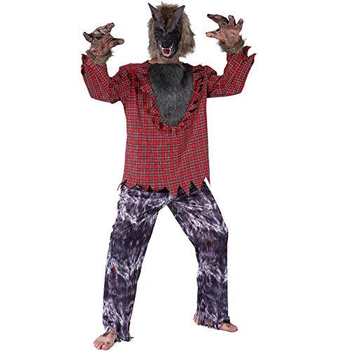 Handschuhe Kostüm König Hexe - Thermos cup Halloween KostüM KostüM Erwachsener Horror BeäNgstigend Rolle Spielen Werwolf Sexy,Male Werewolf