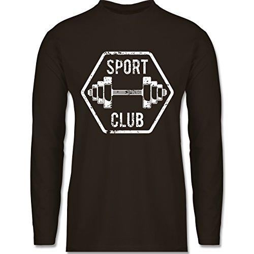 Shirtracer CrossFit & Workout - Sport Club - Herren Langarmshirt Braun