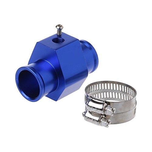 AST Works 30mm Blue Water Temp Temperature Pipe Joint Sensor Gauge Radiator Hose Adapter