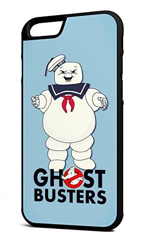 Customcases Ghostbusters Stay Puff Marshmallow Man 80's Klassischer Film Charakter Schwarz Gummi-Telefon-Kasten für iPhone 6/6s