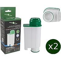 2 x FilterLogic CFL-902B - Filtro de agua reemplaza el cartucho de Saeco nº CA6702/00 - Brita ® Intenza+ para Saeco / Philips / Gaggia cafetera automática - Máquina de café espresso