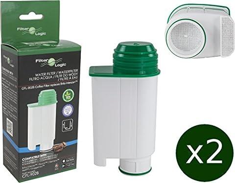 2 x FilterLogic CFL-902B - Wasserfilter ersetzen Saeco Nr. CA6702/00 - Brita ® Intenza+ Wasserfilterkartusche für Saeco / Philips / Gaggia Kaffeemaschine -