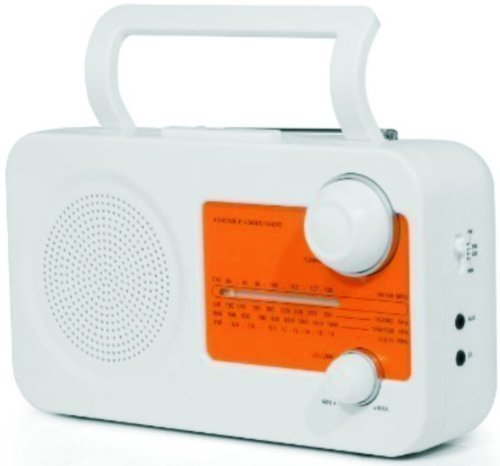 Retro Radio, tragbar - knalliges orange, ideal für unterwegs, Camping geeignet