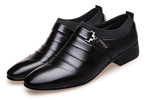 HYLM Männer Business Casual Schuhe spitz / Smoking Schuhe / Hochzeit Schuhe , 41 , (Schuhe Schwarz Smoking Und Weißen)