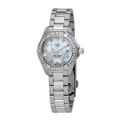 Tag Heuer WBD1415.BA0741 - Reloj de pulsera para mujer con esfera de nácar y diamantes blancos