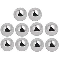 uxcell 10pcs 8mm Diámetro rodamientos de bolas de acero eléctrico Herramienta Accesorios plata tono