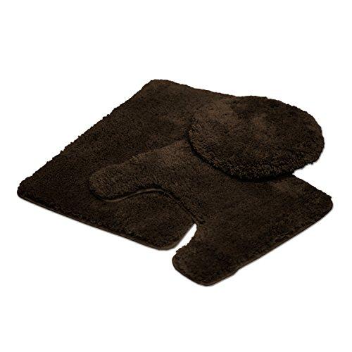Kashi Home Solid Teppich, Set von 3, Schokolade -