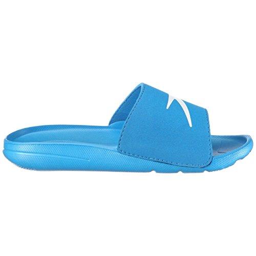 Speedo Atami Core Slide Jm - Scarpe da Spiaggia e Piscina Unisex Bambini, Blu (Blue/White 000), 31 EU