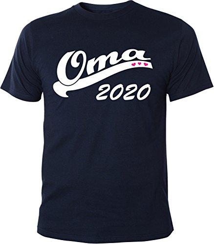 Mister Merchandise Herren Men T-Shirt Oma 2020 Tee Shirt bedruckt Navy