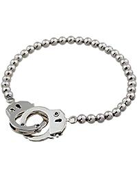 197dd8c85386 Fengteng Brazalete de plata de la cadena ajustable de la bola de la joyería  de con las esposas Brazalete de las pulseras de…