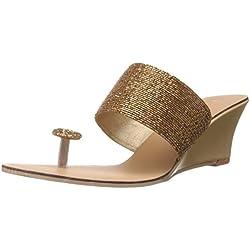 Catwalk Women's Gold Slippers - 5 UK (6623xx)