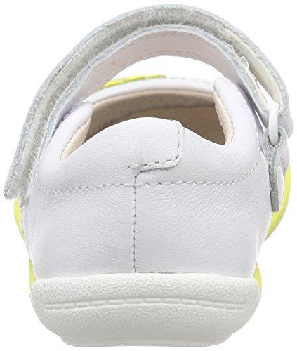 Clarks Softly Jam Fst Unisex Baby Lauflernschuhe Weiß (White Leather)