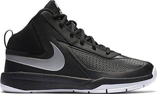 Nike Jungen Team Hustle D 7 (GS) Basketball Turnschuhe, Schwarz / Silber / Weiß (Schwarz / Mtllc Silber-Weiß-Schwarz), 38 1/2 (Schuhe Nike Weniger Für)