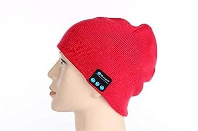 TopSku ideapro Unisex Warm Hat Wireless Bluetooth Mütze Running Cap Hat Stereo-Headset mit Mikrofon für Fitness Outdoor Sport Radfahren Angeln Wandern