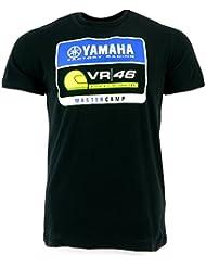 Valentino Rossi VR46 Moto GP Yamaha Master Camp Negro Camiseta Oficial 2017