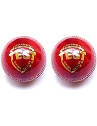 Diseño de pelota de críquet | piel | rojo | prueba grado | Juego de 2| iksuakú–Pelotas de críquet