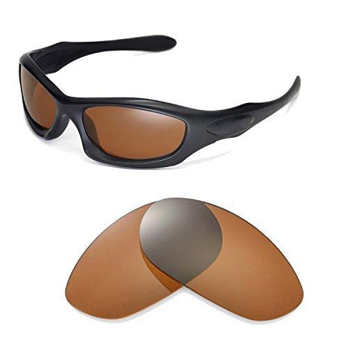 Walleva Ersatzgläser für Oakley Monster Dog Sonnenbrille-Mehrfache Optionen (Braun - polarisiert) (Monster Zeigen High)