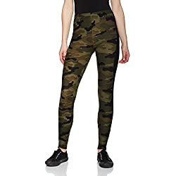 Urban Classics Ladies Camo Stripe Leggings, Mujer, Mehrfarbig (Woodcamo/Blk 459), 44 (Talla del Fabricante: XL)