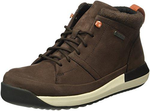 clarks-johto-hi-gtx-botines-para-hombre-marron-dark-brown-nubuck-43-eu