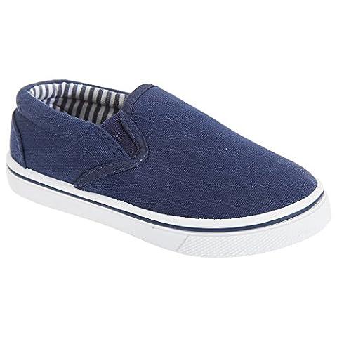 Dek Childrens/Kids Slip On Canvas Shoes (9 UK Child) (Navy)