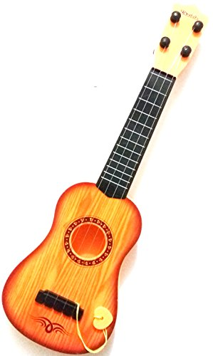 ToyMart Guitar With 4 Strings Wood Finish Best Sound Quality