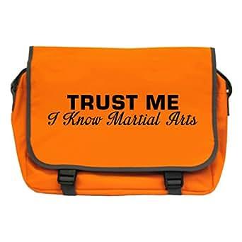Trust Me I Know Martial Arts Messenger Bag - Orange