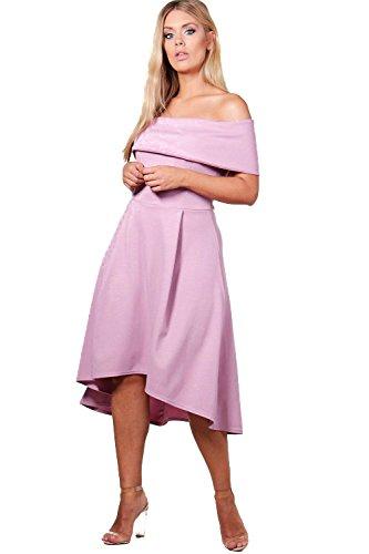 YourPrimeOutlet Womens Plus Elizabeth Double Layer Midi Dress