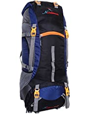 Nordstrom 75L 0109 Polyester Climate Proof Mountain Rucksack with Rain Cover and Laptop Sleeve with Padding(Navy Blue and Black)