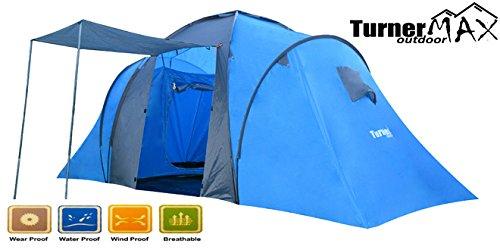 TurnerMAX Outdoor trijan 60014Persona Tenda da campeggio trekking nuovo grande famiglia Camera da letto