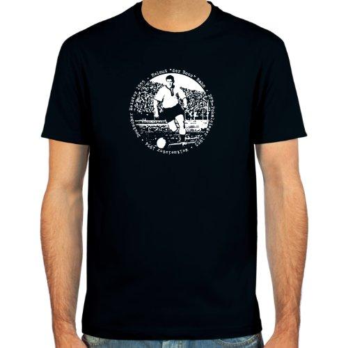 SpielRaum T-Shirt Helmut Rahn, 'der Boss' ::: Farbauswahl: schwarz, oliv, navy oder deepred ::: Größen: S-XXL ::: Fußball-Kult
