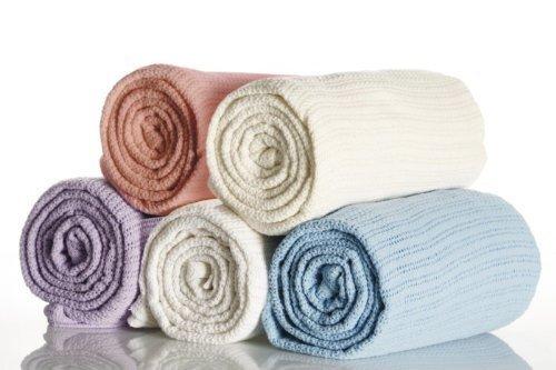 Couverture cellulaire 100% coton Taille lit double dans lilas 254 cm x 228 cm