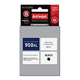Activejet AH-950BRX 80 ml Replacement for HP Inkjet Cartridge - Black