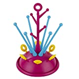 ZEEUPAI - Escurridor para biberones y vajilla infantil Secador con bandeja antigoteo desmontable Botellero para biberones (Rosa)