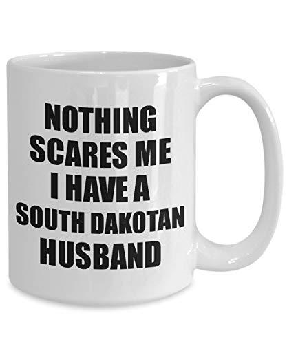 Ethelt5IV South Dakotan Ehemann Becher lustige Valentine Geschenk f¨¹r Frau Mein Ehepartner Wifey Ihr South Dakota Hubby Gag Nichts Macht Mir Angst Kaffee Tee Tasse - Tee South Dakota