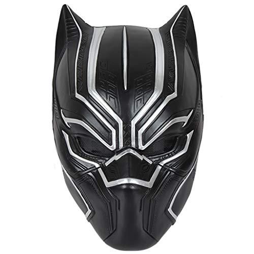 Yujingc Halloween Cosplay Vollkopf Helm Maske American Captain 3 Black Panther Maske Marvel Movie Cos Maske für Herren Jungen,Black,29 * 18 * 19cm
