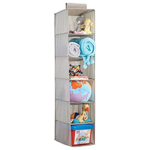 Mdesign scatola armadio - set da 2 scatole per vestiti, calze, mutande, magliette, accessori e altro - organizer cassetto in stoffa con 5 scomparti - colore: grigio