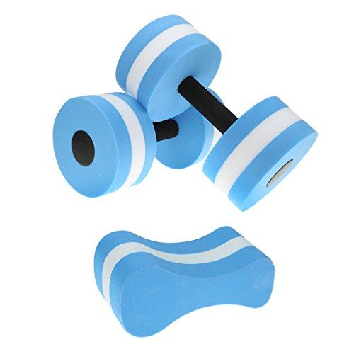 Segolike Water Aerobics Dumbbells Aqua Barbells, Pull Buoy, Foam Pull Float, Aquatic Fitness Equipment Swimming Training Aid
