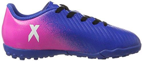 adidas Jungen X 16.4 Tf J Futsalschuhe Blau (Blue/Footwear White/Shock Pink)