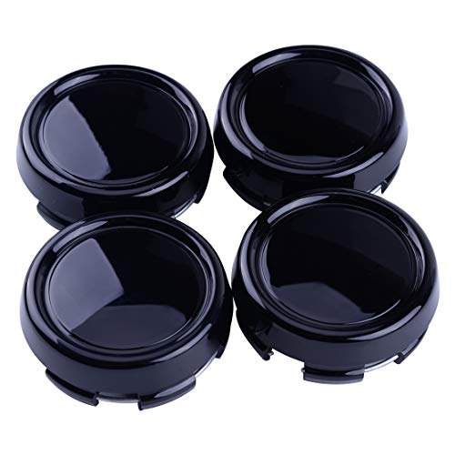 beler 4pcs enjoliveurs de centre de moyeu de roue noirs de 79mm