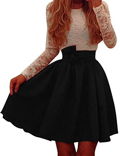 Pinkyee Damen Kleid Gr. L, Schwarz