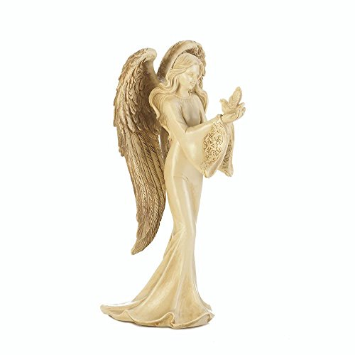 SSJSHOP Angel Carrying Dove Figurine Figurines Statue Resin Sculpture Home Decoration Tabletop