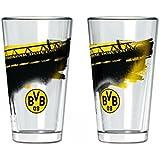 BVB 09Borussia Dortmund de agua de cristal con südtribüne (2ST