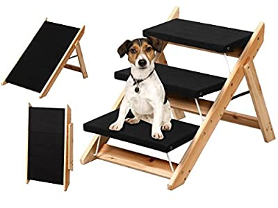 Folding Dog Ramp Pet Easy Climb Mobility Steps Stairs Portable Ladder Pup Travel