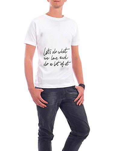 """Design T-Shirt Männer Continental Cotton """"Lets Do"""" - stylisches Shirt Typografie von Liliana Michalska Weiß"""
