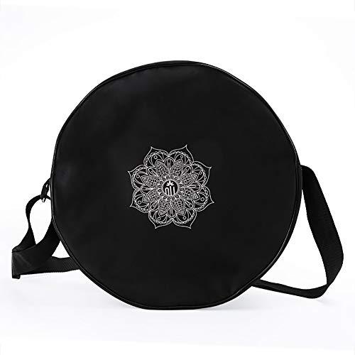 ACOCO Yoga Radtasche Nylon Schwarz Mandala Blume 36 * 14Cm Yoga Ringtasche Große Kapazität Doppel-Reißverschluss Pilates…