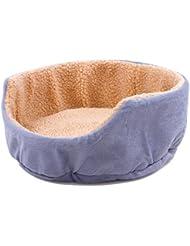 OOFWY Estaciones General Animales domésticos Cove Cuatro linda del perro Cama redonda Económico caseta de perro Gato Nido , gray