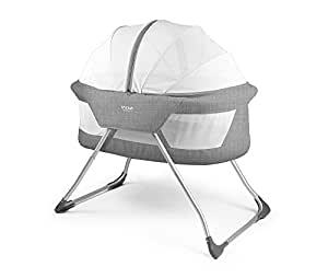 Inovi Cocoon Folding Moses Crib Travel Cot Grey